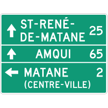 Direction comprenant l'inscription CENTRE-VILLE